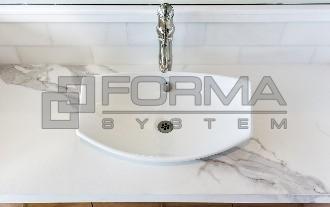 Standardowy Blat ceramiczny łazienkowy 12 mm grubości